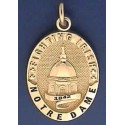 Golden Dome Charm with Recessed Lettering