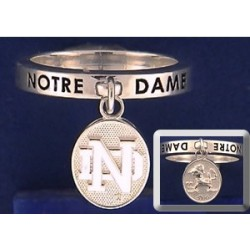 Dangle Ring with Leprechaun & ND Logo Charm