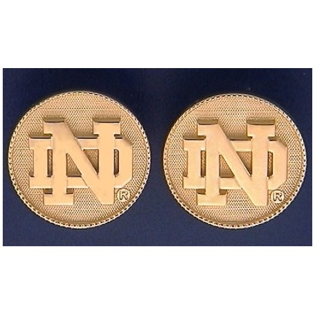 ND logo with Beaded Bezel Earrings