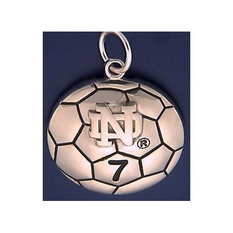 Soccer Ball Charm with ND Logo