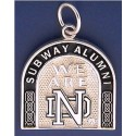 Two-Sided Subway Alumni Charm with Leprechaun & ND Logo