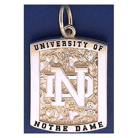 Two-Sided Charm with ND logo & Leprechaun