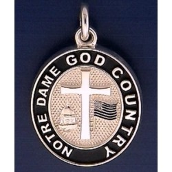 God, Country, Notre Dame® Charm