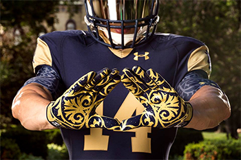 Notre Dame Shamrock Series Uniforms 2014