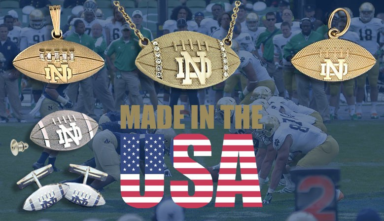 WE ARE ND Football Charms, Pendants, Cuff links & More!