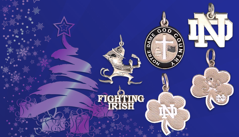 Notre Dame® Fine Jewelry Charms are crafted with your choice of Gold or Sterling Silver.