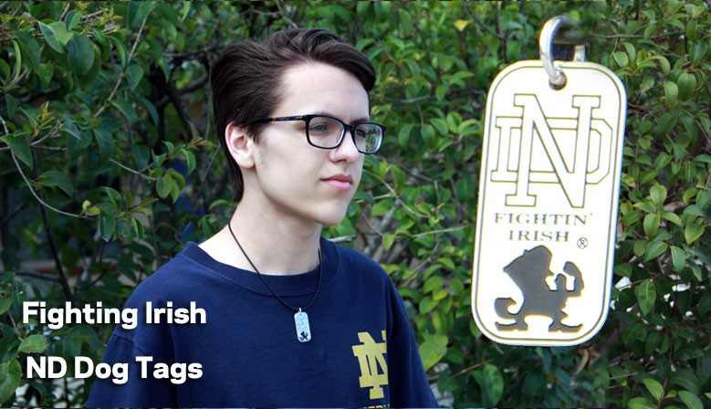 ND Fighting Irish Dog Tags