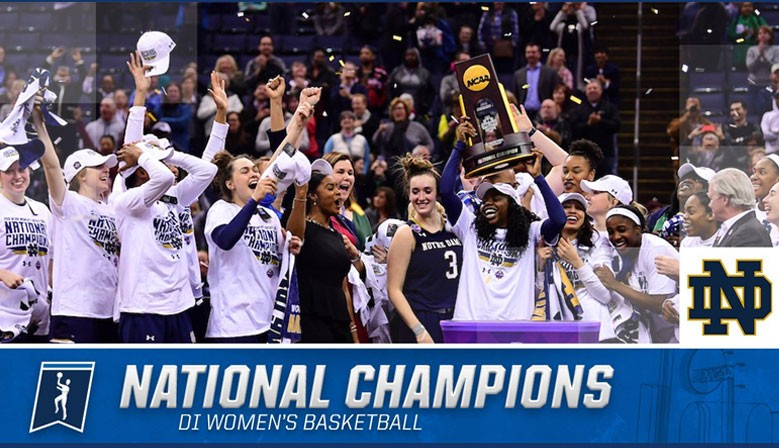 Congratulations ND Women's Basketball Team!